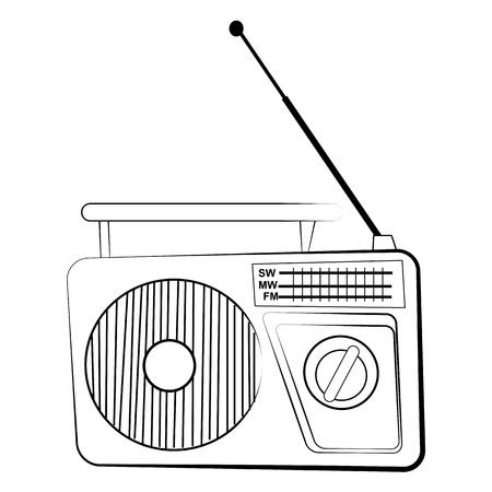 Radio receiver Illustration