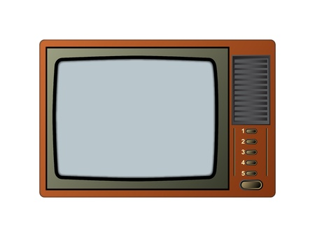 television aerial: Retro TV set