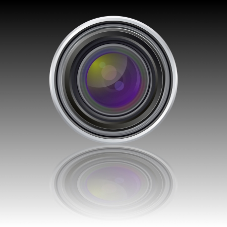 coating: Vector lens icon