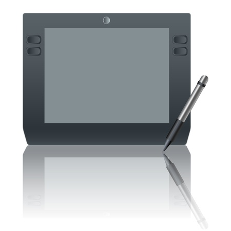 graphic tablet: Gr�fico icono de la tableta