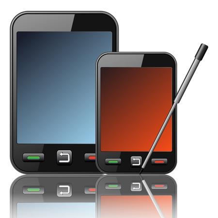 stylus: Vector smartphone icon