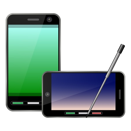 pocket pc: Vector smartphone icon