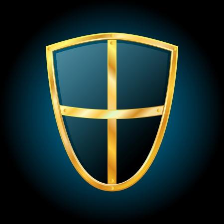Vector shield icon Иллюстрация