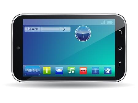 pocket pc: Vector smartphone icon