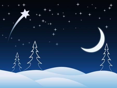 schneelandschaft: Weihnachten Vektor-Karte