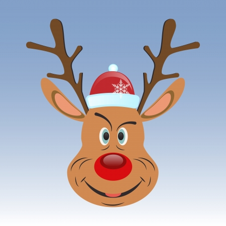 fake smile: Reindeer icon