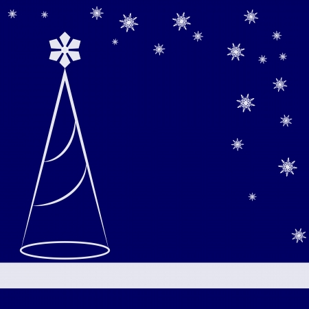 blue abstract: Abstract christmas card Illustration