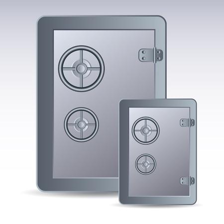 guard box: Safe icon Illustration