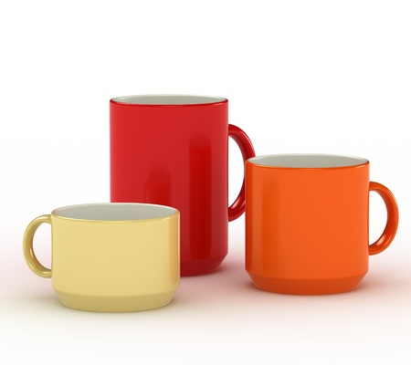 Colorful cups set