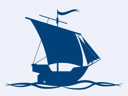 Sail ship vector icon Stock Vector - 16832747