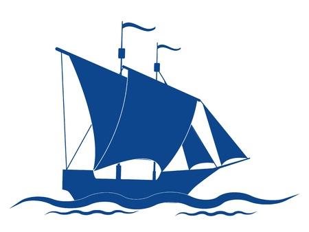 Sail ship vector icon Stock Vector - 16832749