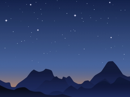 early in the evening: Dawn sky vector background