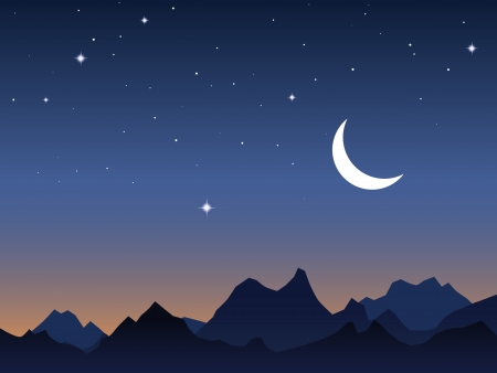 Dawn sky vector background Vector