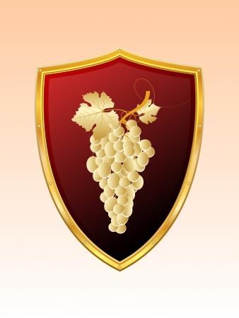 hanedan arması: Üzüm demet paneller