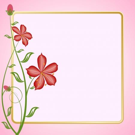 Floral frame Stock Vector - 16909738
