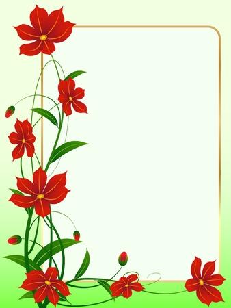 Floral frame Stock Vector - 16909732
