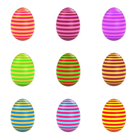 Colorful easter eggs set Stock Photo - 17170432