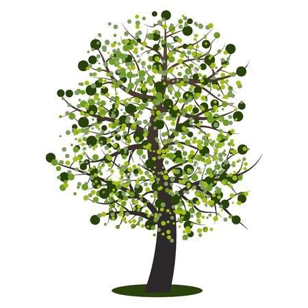 Abstract summer tree Stock Vector - 17346696
