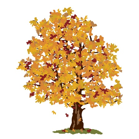 Abstract autumn tree Stock Vector - 17346691