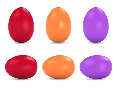 Easter eggs vector set Stock Vector - 17369371