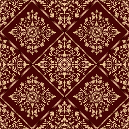 red carpet background: Seamless floral  pattern Illustration
