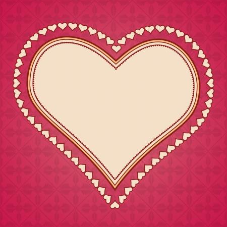 love image: Retro style vector frame