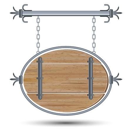 Retro wooden board Stock Vector - 17581200