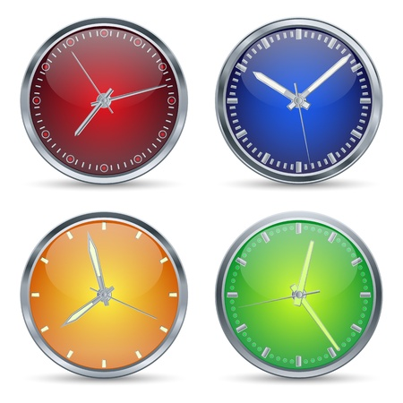Set of clocks icon Stock Vector - 17722493