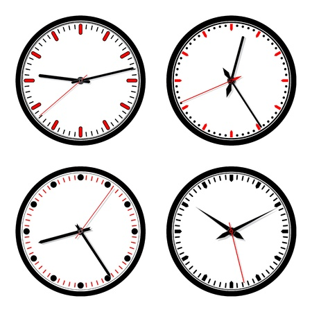 Set of vector clock icons