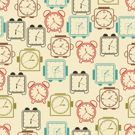 Clocks seamless vector pattern Vector