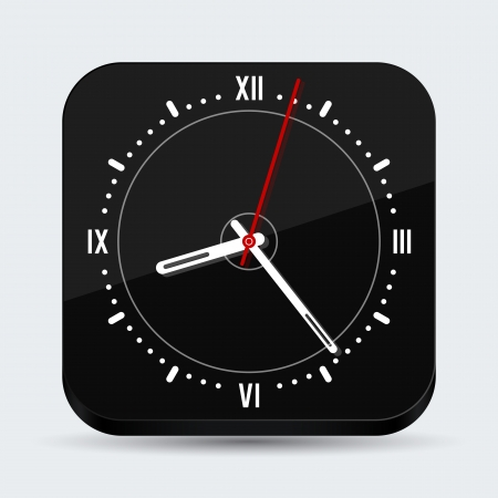 Black clock    Vector