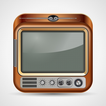 Retro TV set illustration Vector