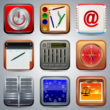 Application icons vector set Stock Vector - 20128872