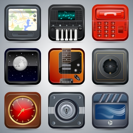Application icons vector set Stock Vector - 20128873