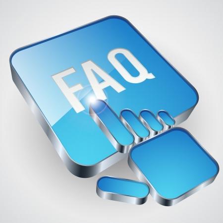 Bouton FAQ Banque d'images - 20664177