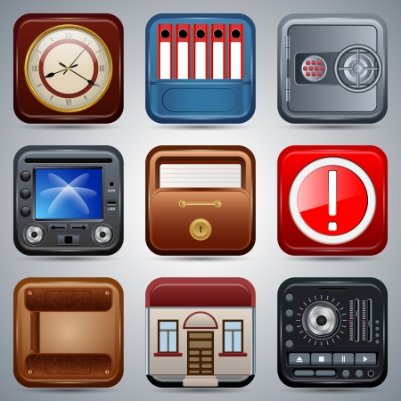 Application icons vector set Stock Vector - 20664247