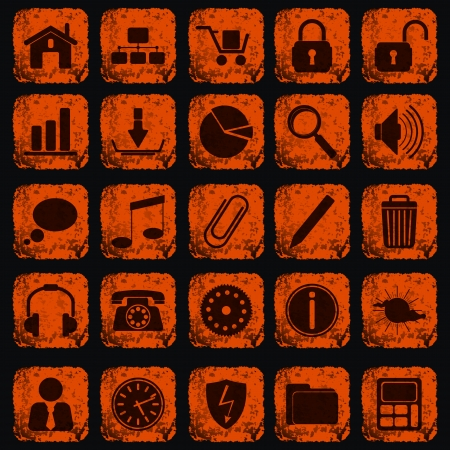 Grunge icons set Stock Vector - 20664227