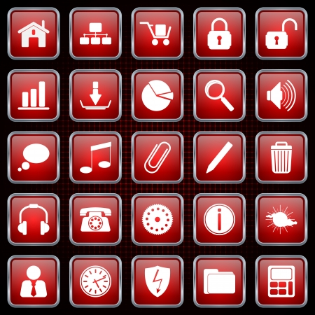 Application icons vector set Stock Vector - 20664230