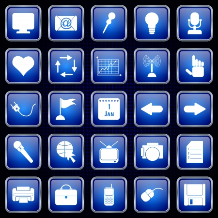 Application icons vector set Stock Vector - 20664231