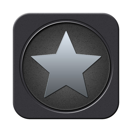 Star button Stock Photo - 23682224
