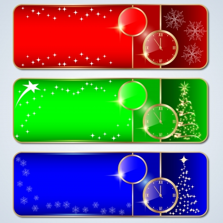 Christmas banners vector set Vector