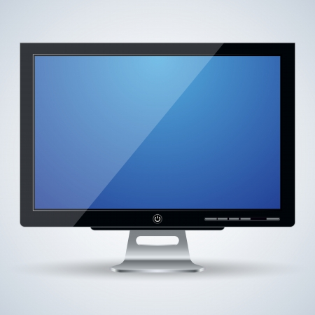 3d monitor vector illustration Stock Vector - 24625776