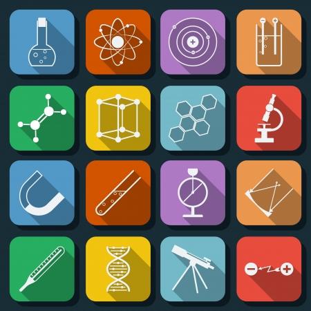 Les graphismes plats scientifiques établies Banque d'images - 25523882