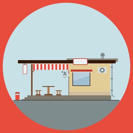 Cafe flat vector illustration Vector
