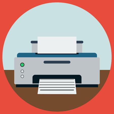 Printer flat vector illustration Vector