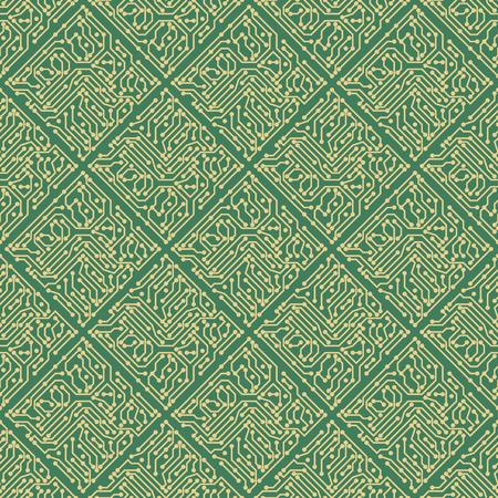 Circuit seamless pattern Vector