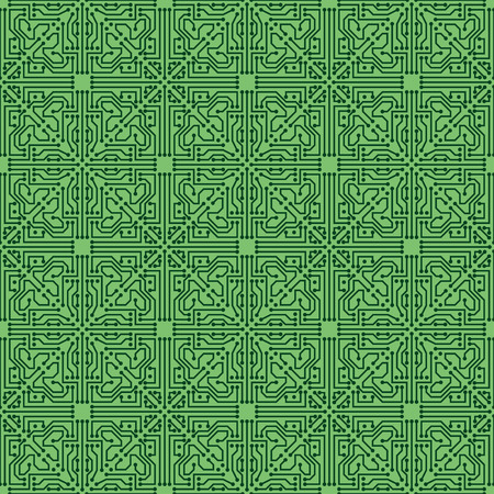 Circuit seamless background Vector