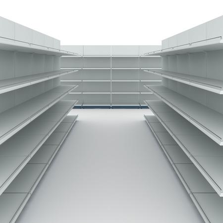 Empty supermarket shelves Stock Photo - 28869811