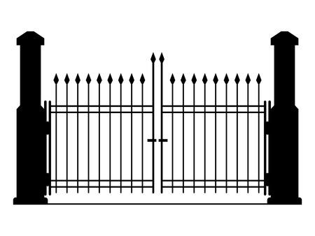 metal gate: Metal gate silhouette