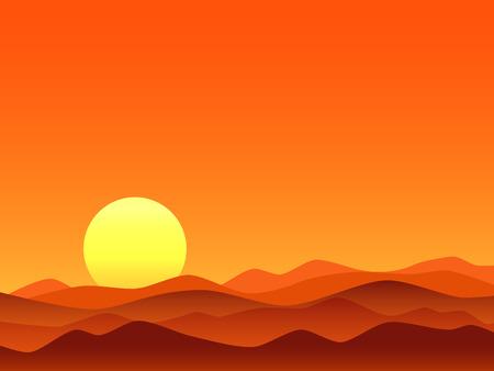 Red desert bright sunrise